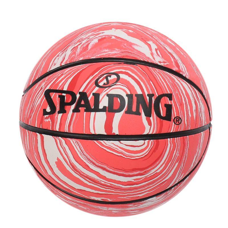 斯伯丁SPALDING 高弹力幼儿小篮球橡胶儿童玩具礼品1号小皮球nba摆件 51-329Y