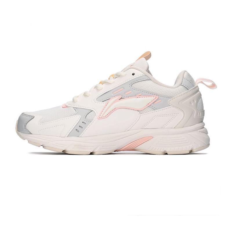 李宁LI-NING 女子 2021新款运动鞋减震回弹休闲鞋舒适透气时尚跑步鞋休闲鞋 ARLQ012-5