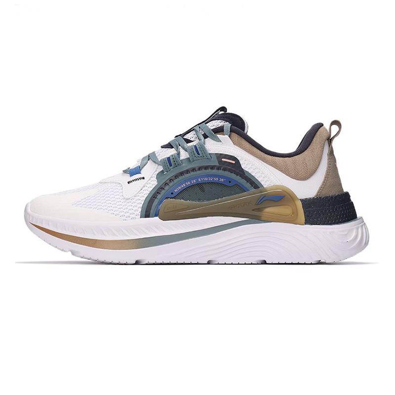 李宁LI-NING 男子 2021新款运动鞋减震回弹休闲鞋舒适透气时尚跑步鞋休闲鞋 AGLR085-1