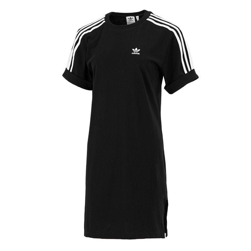 阿迪达斯三叶草ADIDAS 女子 2021新款运动服休闲透气时尚潮短袖长款T恤 GN2777