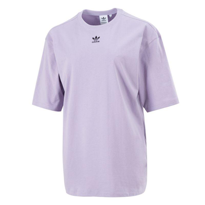 阿迪达斯三叶草ADIDAS 女子 2021新款跑步训练健身运动半袖休闲透气圆领棉质T恤 GN4782