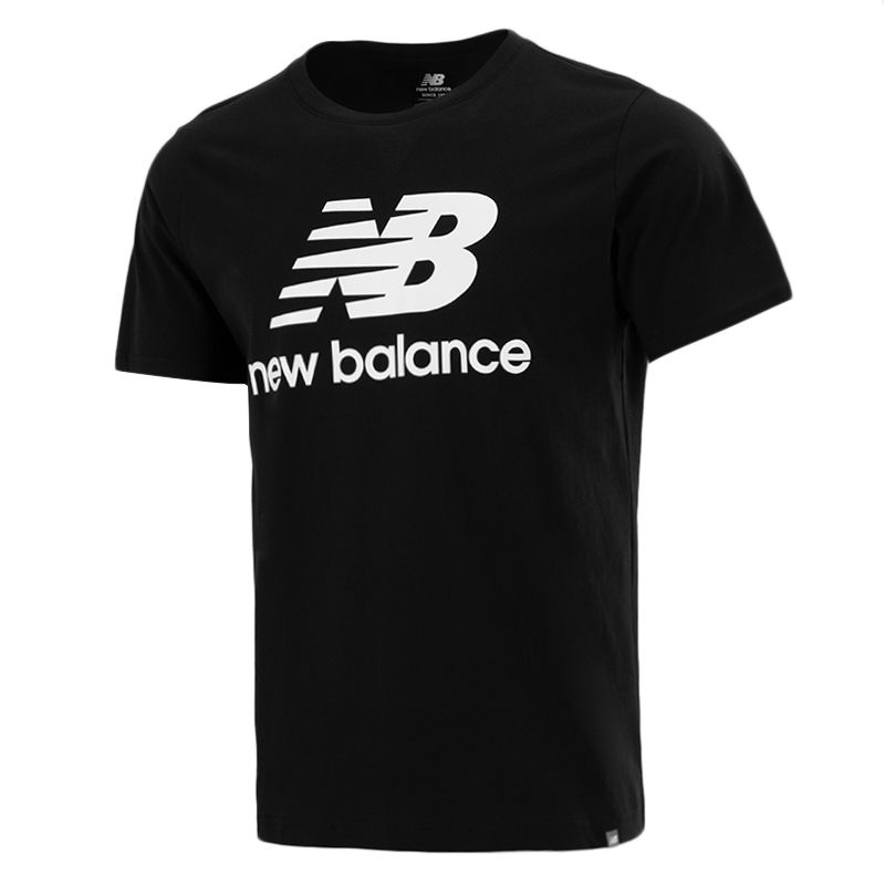 NEW BALANCE 男子 2021新款运动服跑步训练健身轻薄透气舒适休闲圆领短袖T恤 AMT01575-BK