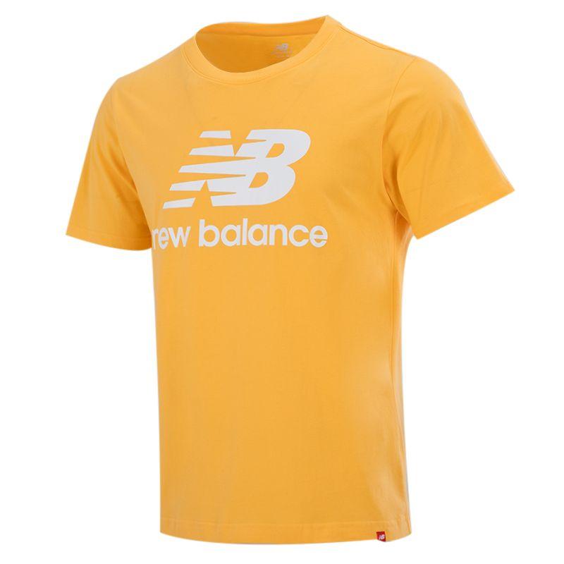 NEW BALANCE 男子 2021新款运动服短袖上衣棉质圆领运动T恤 AMT01575-HAB