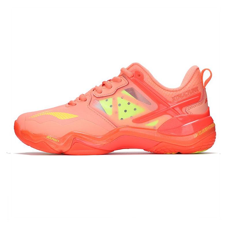李宁LI-NING 女子 2021新款运动鞋比赛鞋舒适透气训练鞋羽毛球排球休闲鞋 AYZQ008-1