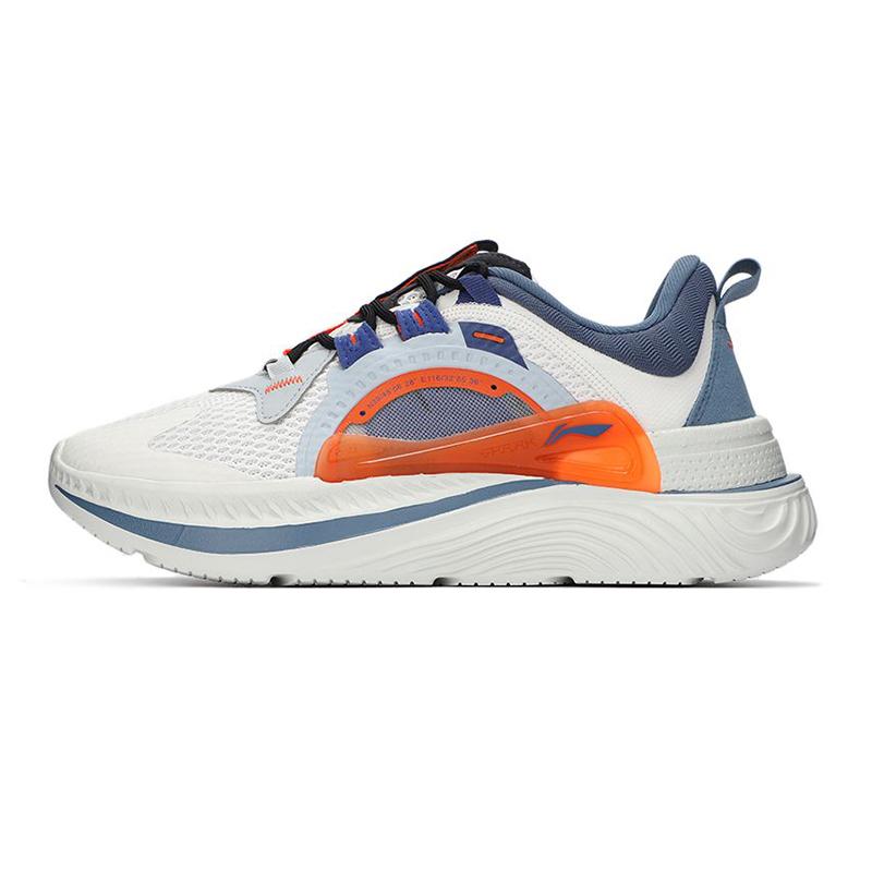 李宁LI-NING 男子 2021新款休闲舒适透气耐磨时尚透气休闲鞋 AGLR085-4