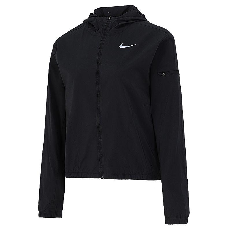 耐克NIKE 女子  2021新款梭织透气跑步训练休闲上衣连帽开衫夹克外套 DH1991-010