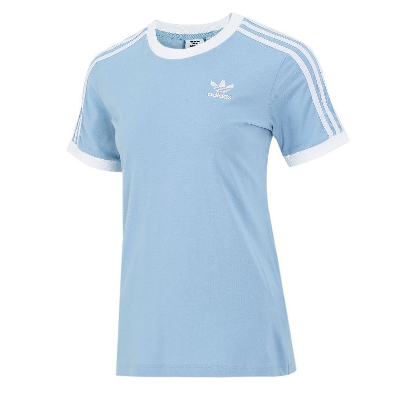 阿迪达斯三叶草ADIDAS 女子 2021新款运动跑步健身轻薄透气圆领短袖半袖T恤 H33574