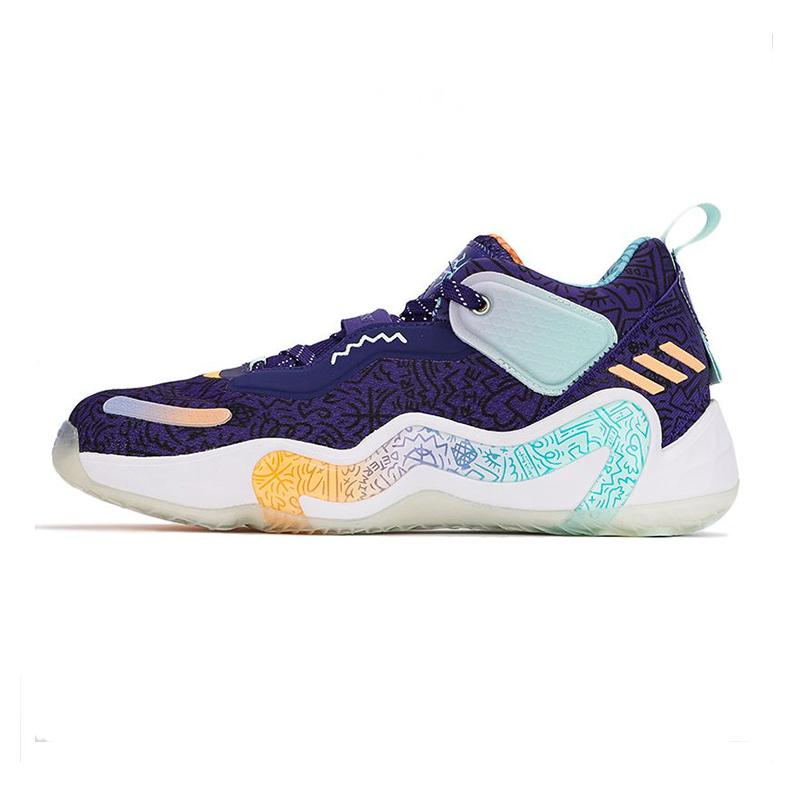 阿迪达斯ADIDAS 男子 2021新款D.O.N. Issue3GCA21新款低帮篮球运动鞋 GV7264