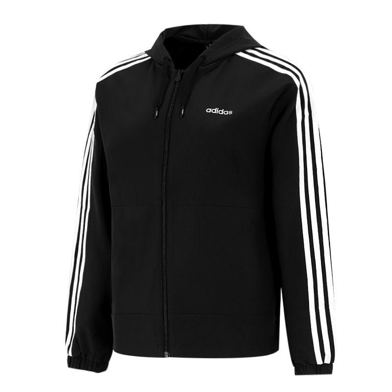 阿迪达斯生活Adidas NEO 女子 2021新款运动服户外跑步训练健身透气干休闲夹克外套 H36746