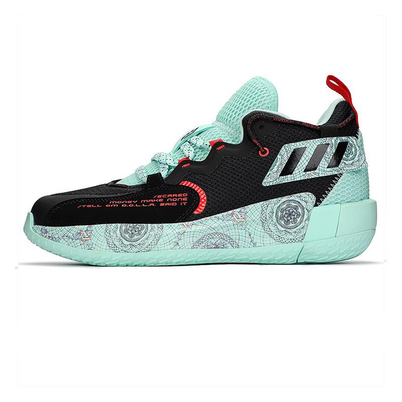 阿迪达斯ADIDAS  男子 2021新款运动鞋减震实战战靴篮球鞋 H68607