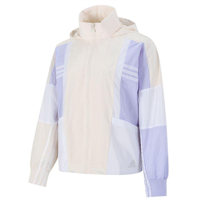 阿迪达斯ADIDAS 女子 2021新款运动训练休闲时尚梭织夹克 H09728