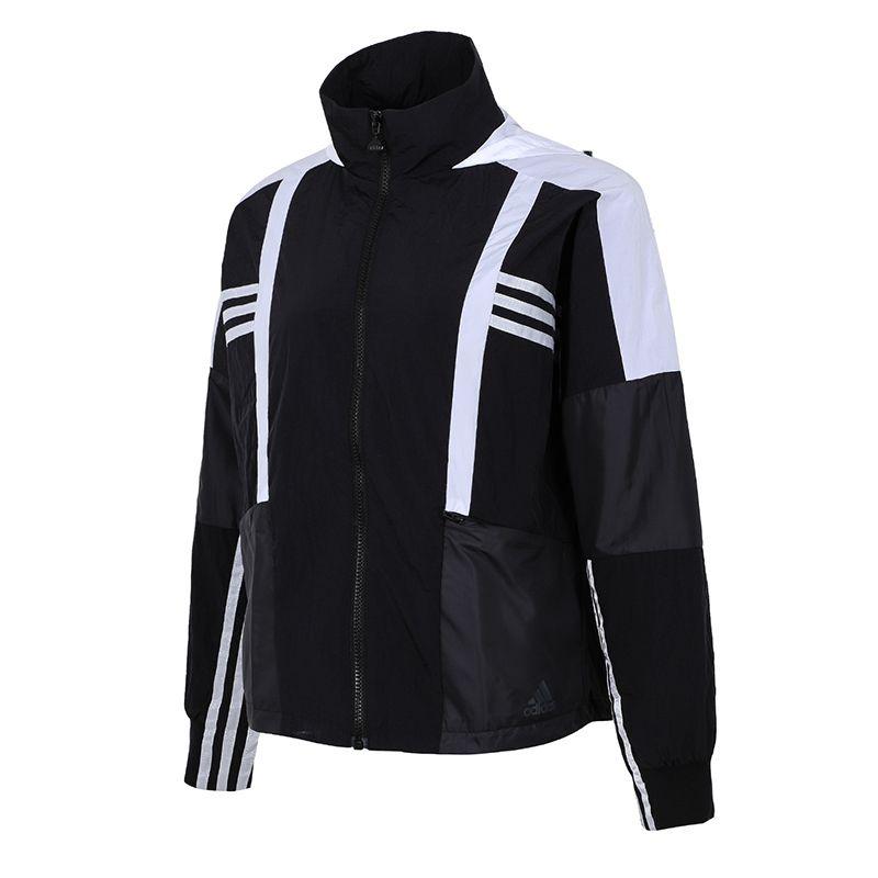 阿迪达斯ADIDAS 女子 2021新款运动训练休闲时尚梭织夹克 H09730