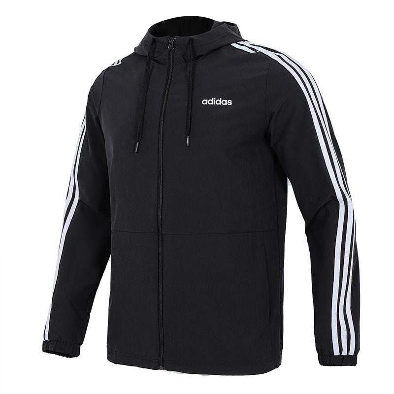 阿迪达斯生活Adidas NEO 男子 2021新款运动服跑步训练外套休闲宽松透气夹克 H14196