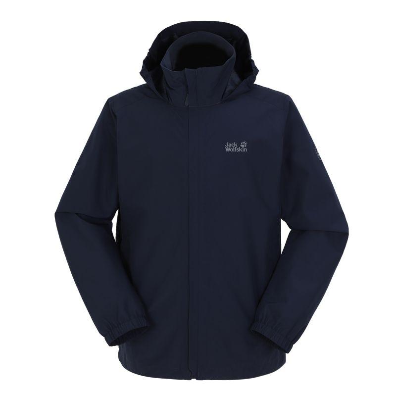 狼爪Jack wolfskin 男子 2021新款户外运动服时尚休闲防风立领夹克外套 5020892-1010