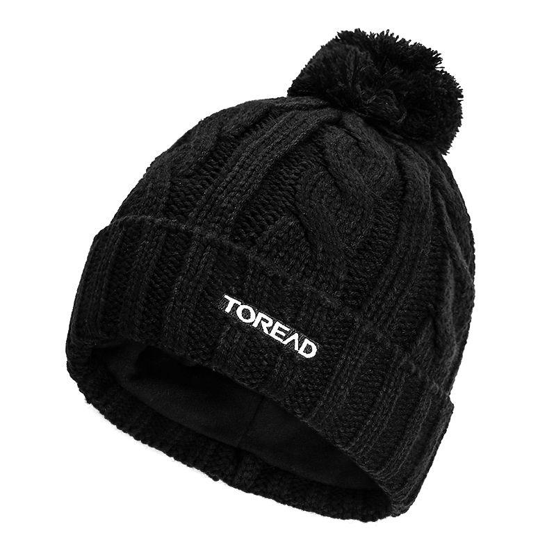 探路者TOREAD 男女 2021新款腈纶编织保暖舒适时尚花纹针织帽 TELI90312-G01X