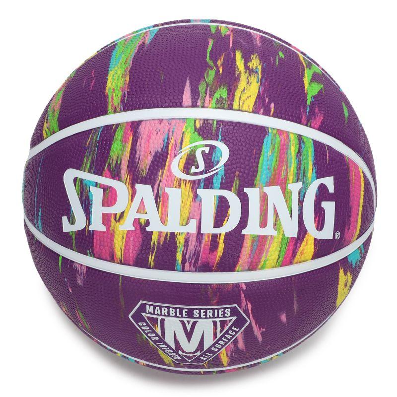 斯伯丁SPALDING 男女 2021新款大理石印花系列室外耐磨7号通用橡胶篮球 84-403Y