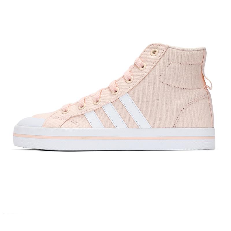 阿迪达斯生活Adidas NEO 女子 2021新款时尚高帮耐磨帆布鞋舒适透气运动休闲板鞋 FX9071