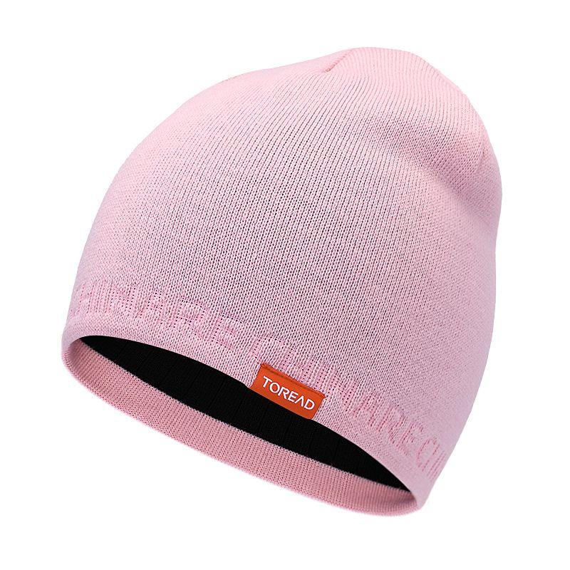 探路者TOREAD  男女 2021新款舒适透气针织绒线帽  TELI90315-AC6X