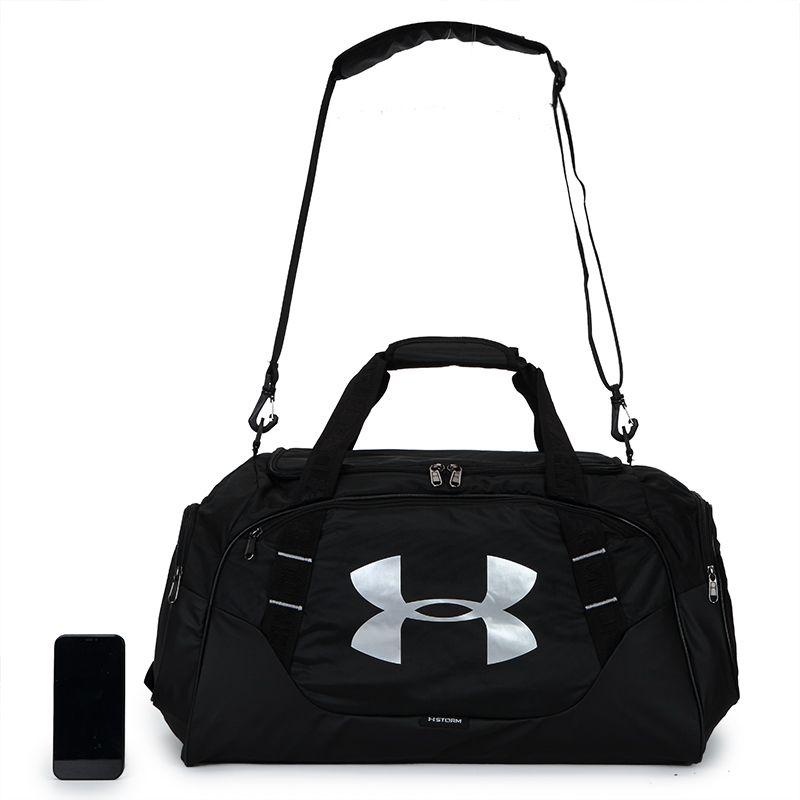 安德玛 男女 2021新款大容量单肩提包运动健身训练桶包旅行包 1300213-001