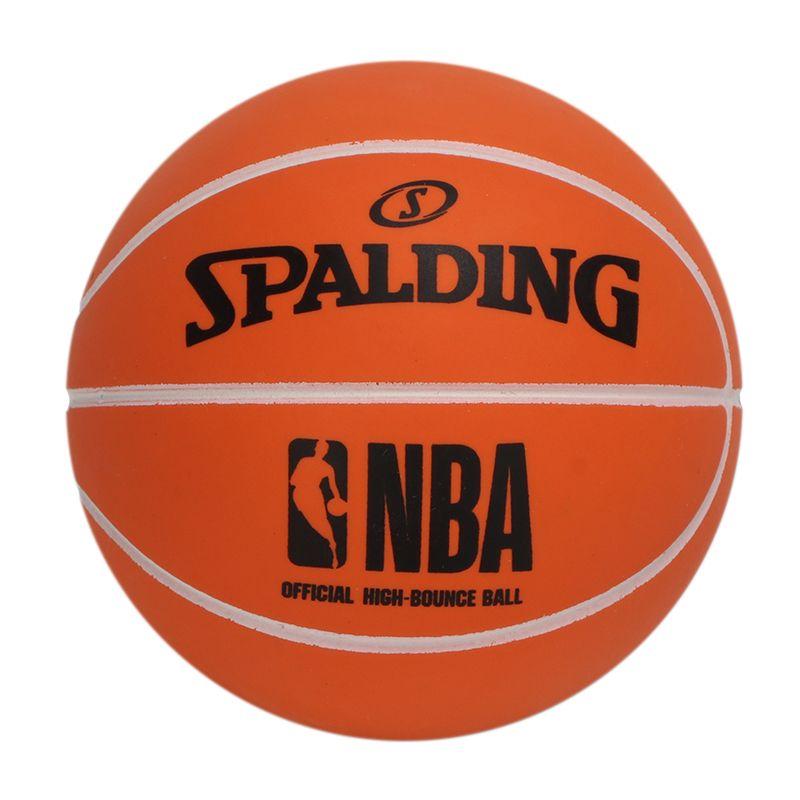 斯伯丁SPALDING 男女 高弹力橡胶NBA小篮球摆件儿童玩具 51-291Y