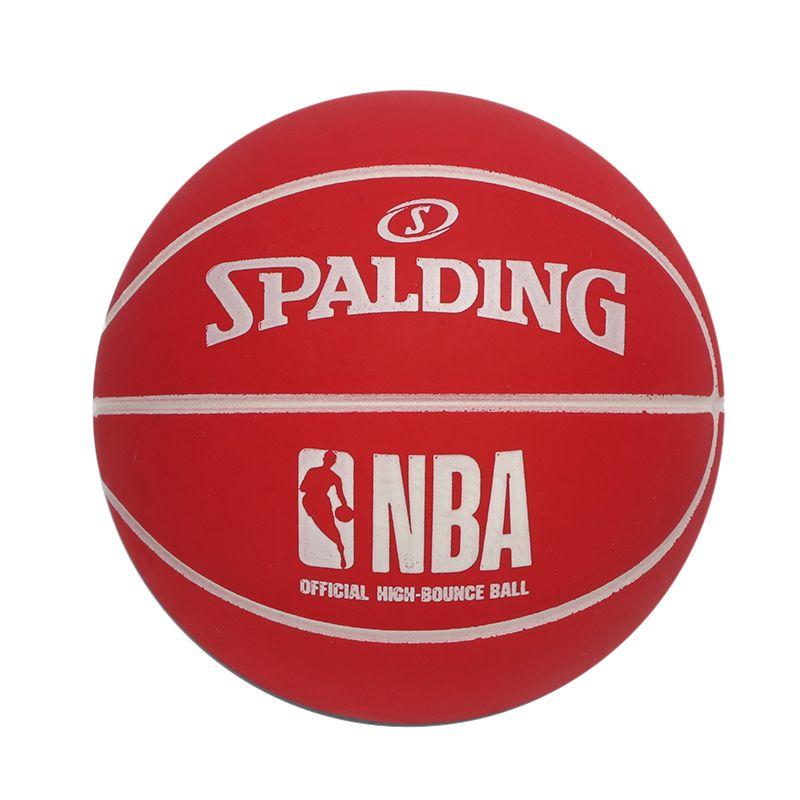 斯伯丁SPALDING 男女 高弹力橡胶NBA小篮球摆件儿童玩具 51-293Y