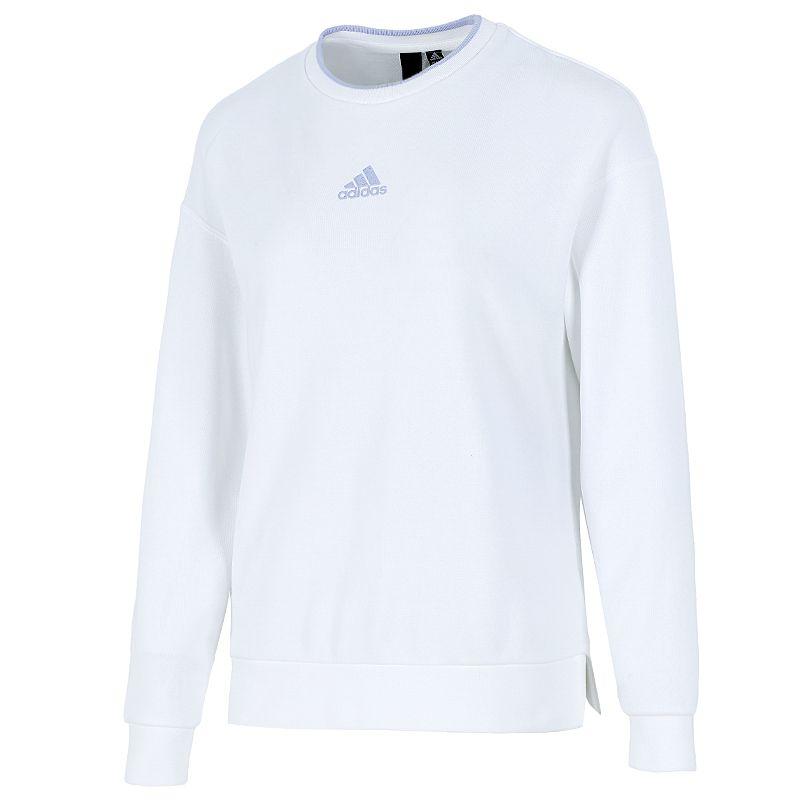 阿迪达斯ADIDAS 女子  2021新款运动跑步训练健身潮流时尚透气舒适休闲卫衣套头衫 H09743