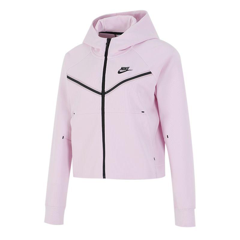 耐克NIKE 女子 2021新款运动跑步训练健身舒适连帽针织夹克外套 CW4299-695