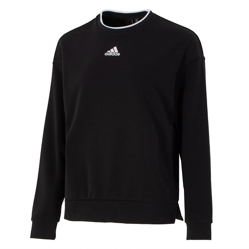 阿迪达斯ADIDAS 女子 2021新款运动跑步训练健身潮流时尚透气舒适休闲卫衣套头衫 H09766