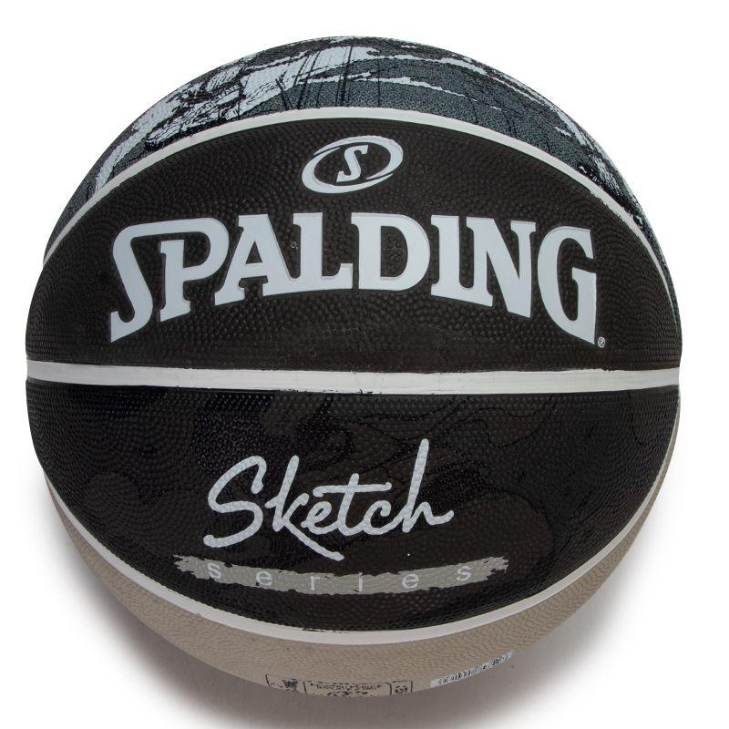 斯伯丁SPALDING 男女 2021新款大理石印花系列室外耐磨7号通用橡胶篮球 84-449Y