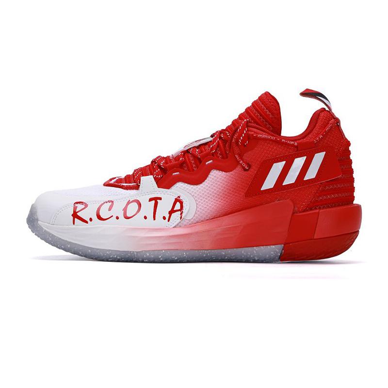 阿迪达斯ADIDAS 男子 2021新款DAME 7 利拉德场上实战比赛训练耐磨高帮篮球鞋 GV9869