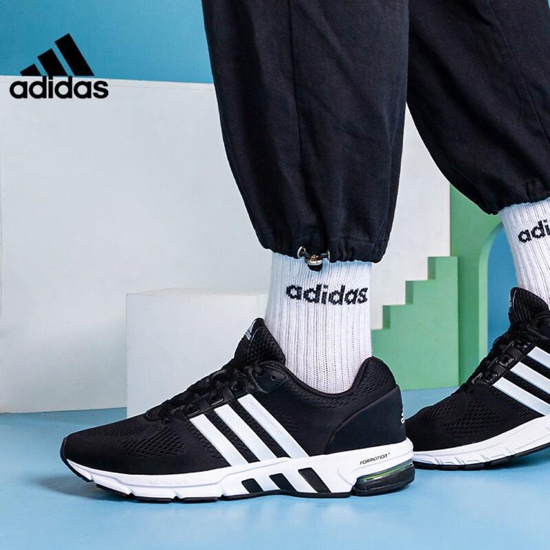 阿迪达斯ADIDAS 男女 2021新品EQT运动鞋网面透气休闲鞋缓震轻质耐磨跑步鞋 GX3489