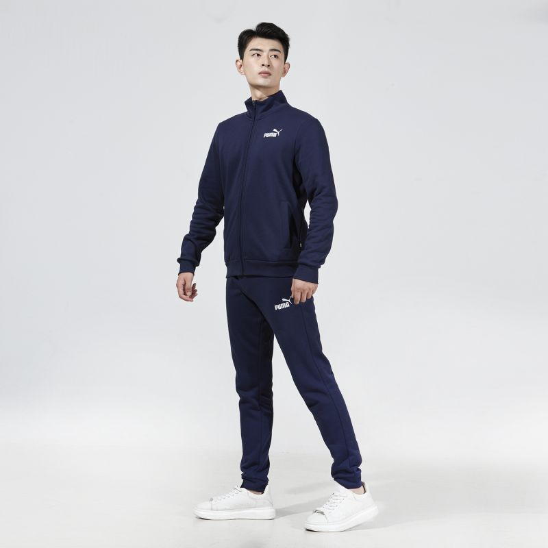 彪马PUMA 男子 2021新款舒适透气休闲运动针织套装  585322-06