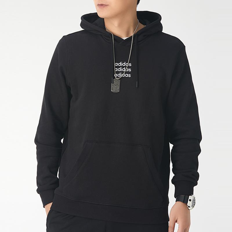阿迪达斯生活Adidas NEO  男子 舒适透气休闲运动纯棉连帽卫衣  GJ8936
