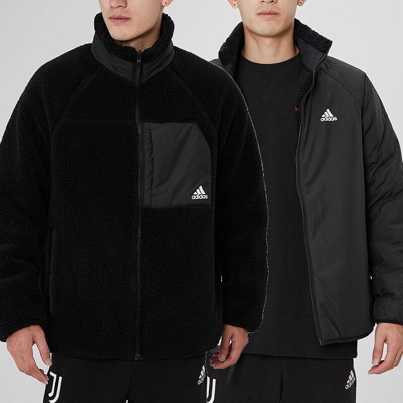 阿迪达斯ADIDAS 中性 2021新款户外防风夹克舒适休闲保暖两面穿外套棉服 H20784